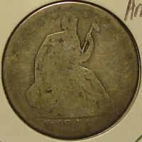 1861 O SEATED LIBERTY SILVER HALF DOLLAR ABOUT GOOD