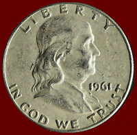 1961 D FRANKLIN 90 SILVER HALF DOLLAR SHIPS FREE. BUY 5 FOR $2 OFF