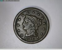 1846 BRAIDED HAIR LARGE CENT   49 98