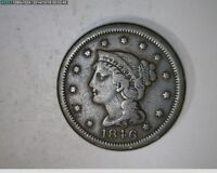 1846 BRAIDED HAIR LARGE CENT   61 87