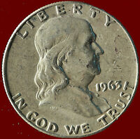 1963 D FRANKLIN 90 SILVER HALF DOLLAR SHIPS FREE. BUY 5 FOR $2 OFF.