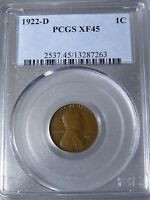 1922 D LINCOLN PENNY CENT PCGS CERTIFIED XF45 XF 45 FREE SHIP