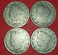 1902 TO 1905 LIBERTY NICKELS  ID 6A
