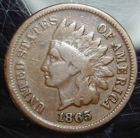 1865 INDIAN HEAD CENT - VG