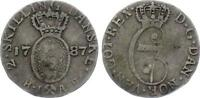 COIN 5559 NORWAY 2 SKILLING 1787 HIAB KM 255 SILVER CHRISTIAN VII