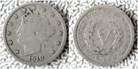 1910 LIBERTY HEAD V NICKEL, BUY 5 COINS GET $2 CASH  - SHIPS FREE ,