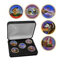2009   2013 CELEBRATING NATIVE AMERICAN CONTRIBUTIONS COLORIZED DOLLAR SET