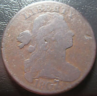 1807/6 DRAPED BUST LARGE CENT S 273.  POPULAR RED BOOK VARIETY