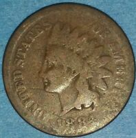 1884 INDIAN CENT  ID 52 12