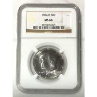1984 D KENNEDY HALF DOLLAR NGC MS66  REV. TYE'S COIN STACHE 501385