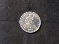 1860 O SEATED LIBERTY SILVER QUARTER