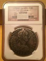 1772 FM MO EIGHT REALES SILVER NGC SHIPWRECK 1784 EL CAZADOR 8R REALE REAL