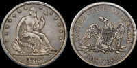 1844 SEATED HALF DOLLAR PCGS XF 40 CAC GEM ORIGINAL