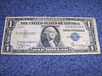1935 ONE DOLLAR SILVER CERTIFICATE NOTE WITH FANCY LOW SERIAL NUMBER