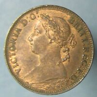 1891 VICTORIA FARTHING   HIGH GRADE LUSTROUS RED & BROWN