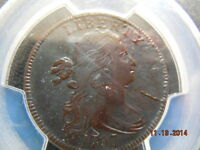 1797 DRAPED BUST LARGE CENT, PCGS GRADED EXTRA FINE  DETAILS, RVSE OF 97,S-126,B-16, R-3