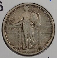 1917 S 25C TYPE 1 STANDING LIBERTY QUARTER FINE CONDITION 148250