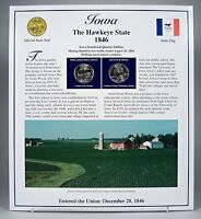 2004 IOWA STATEHOOD QUARTERS   POSTAL COMMEMORATIVE SOCIETY P&D   UNCIRCULATED