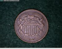 1865 2C TWO CENT CIVIL WAR COIN  7 168