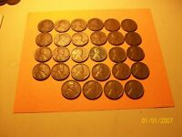 1917 S TO 1955 S 28 DIFFERENT S MINT LINCOLN WHEAT CENTSALL SAN FRANCISCO