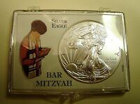 GIFT 1OZ   2016 .999 FN AM SILVER EAGLE$1 BAR MITZVAH  SPECIAL OCCASIONCOA
