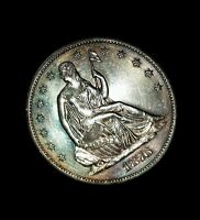 1876 S 50C LIBERTY SEATED HALF DOLLAR CHOICE/GEM UNCIRCULATED SEMI PL INCREDIBLE
