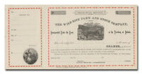WILD RICE FARM AND STOCK COMPANY STOCK CERTIFICATE 1800'S