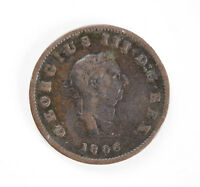 ANTIQUE GEORGE III 1806 COPPER HALF PENNY COIN   GOOD CONDITION