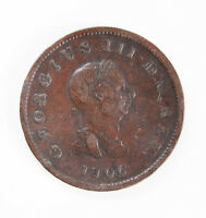 ANTIQUE GEORGE III 1806 COPPER HALF PENNY COIN