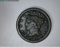 1849 LARGE CENT BRAIDED HAIR   51 98