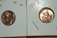 ONE HUNDRED 100 1957 P   LINCOLN  WHEAT CENT  GEM BU