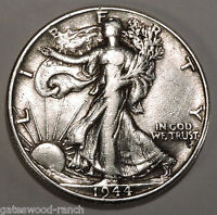 1944 P  LIBERTY WALKING SILVER HALF DOLLAR   NICE COIN WITH GOOD DETAILS 44P4