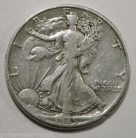 1945 D  LIBERTY WALKING SILVER HALF DOLLAR   NICE COIN WITH GOOD DETAILS 45D8