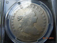 1797 DRAPED BUST SILVER DOLLAR PCGS VF DETAILS 10X6 STARS 7000 MINTED