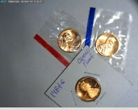 1984 PDS LINCOLN CENTS UNC IN MINT CELLO AND PROOF