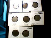 EIGHT GREAT LIBERTY V-NICKELS - 1901-1905, 1907, 1910-1911 - NRGRC12