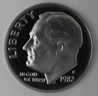 1982 GEM PROOF PF ROOSEVELT DIME UNC UNCIRCULATED US COIN FREE SHIP