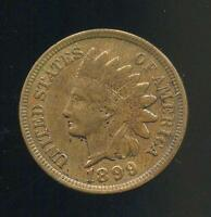 1899 UNITED STATES INDIAN HEAD CENT W/ FULL LIBERTY GREAT DETAILS SEE PICS