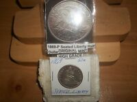 1869 SEATED LIBERTY HALF DOLLAR  XFDETAILS
