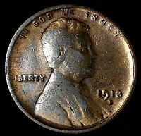 1913-S  1C LINCOLN WHEAT CENT UTL