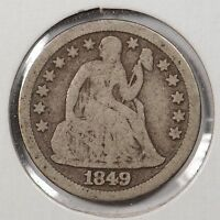 1849 10C LIBERTY SEATED DIME GOOD CONDITION 134841