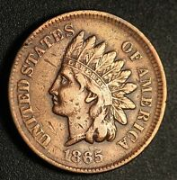 1865 INDIAN HEAD CENT  WITH LIBERTY   VF FINE