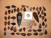 INDIAN HEAD  & 10 WHEAT CENTS W/ 50 ARROWHEADS/SPEARHEADS TEXAS ESTATE 5 1800