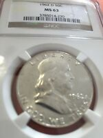 1962 D  FRANKLIN HALF DOLLAR CERTIFIED MS 63 BY NGC