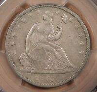 PCGS XF40 1865 S 50C LIBERTY SEATED HALF DOLLAR