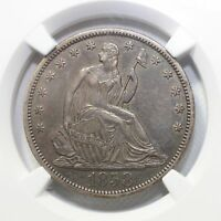 1858 S SEATED LIBERTY HALF DOLLAR XF45  REV. TYE'S COIN STACHE 7004337