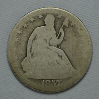 1857 O SEATED LIBERTY SILVER HALF DOLLAR CN1367
