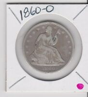 1860 0 SEATED HALF DOLLAR COIN ITEM 982 50