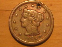 C 375 US LARGE3 CENT 1849 ONLY 4,178,500 MINTED,PRE CIVIL WAR COLLECTABLE