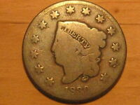 C 379 US LARGE CENT 1830 ONLY 1,711,500 MINTED PRE CIVIL WAR